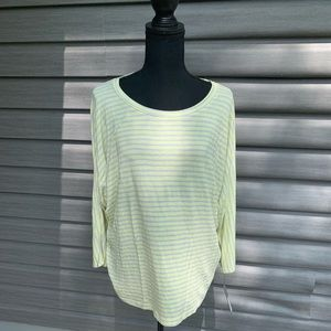 NWT Apt9 yellow 3/4 sleeve dolman shirt